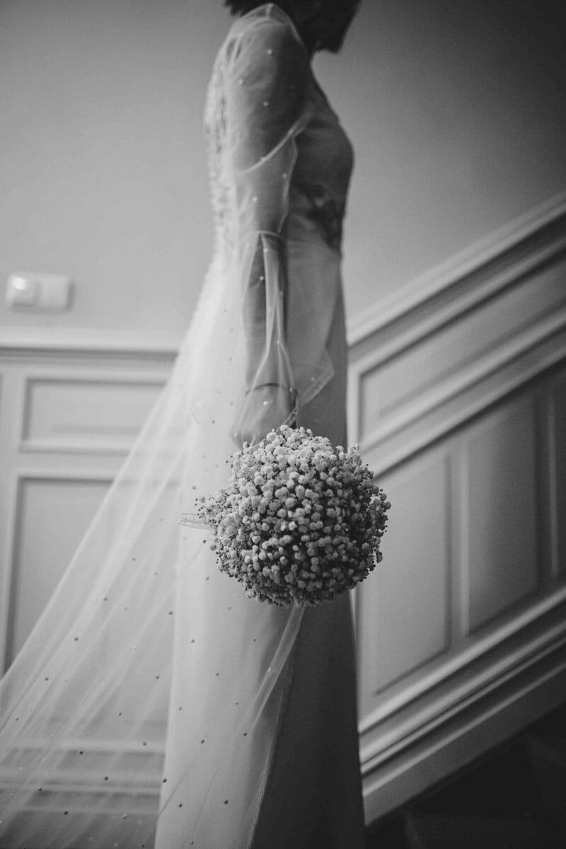 Fotografía de boda novia con ramo